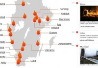 آتشسوزیهای امسال در مکانهای اقامت پناهجویان  در سوید