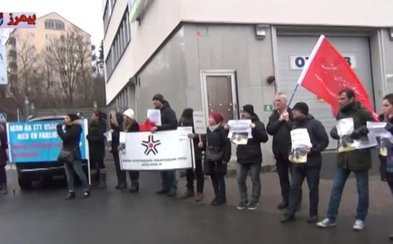 اکسیون اعتراضی علیه حکم اخراج یوسف محمد علی