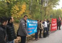 أکسیون روز ده اکتبر  روز جهانی علیه إعدام  در مقابل سفارت جمهوری اسلامی در استکهلم