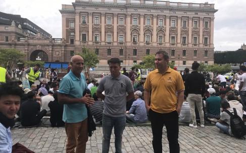 پشتیبانی سازمان بیمرز از تظاهرات علیه اخراج پناهندگان افغانستانی