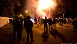 تجمع اعتراضی پناهجویان در مرز یونان
