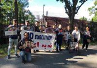تظاهرات مقابل سفارت جمهوری اسلامی ایران در استکهلم علیه حکم اعدام فعالین سیاسی زندانی در ایران