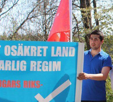 شرکت اعضای سازمان بیمرز در تظاهرات اعتراضی بر علیه انتخابات ریس جمهوری ایران در استکهلم