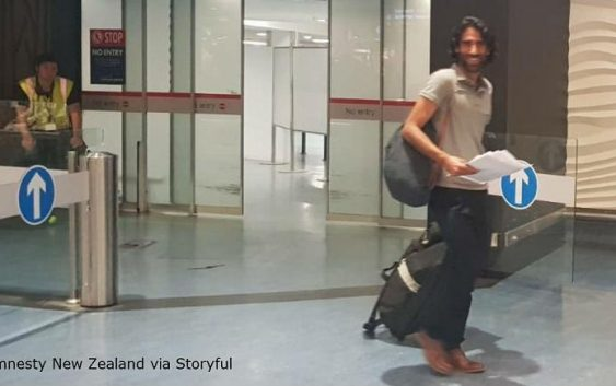 بهروز بوچانی، «صدای پناهندگان جزیره مانوس» وارد نیوزیلند شد