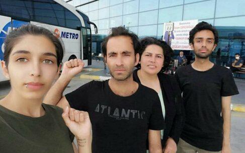 آزادی چهار تن از پناهجویان دستگیر شده در ترکیه
